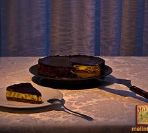 "Cheesecake με σοκολάτα & γλυκό του κουταλιού "" Άγριο Κεράσι Γράμμου"""