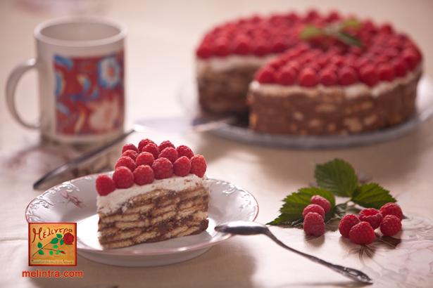 τούρτα σοκολάτας με σμέουρα
