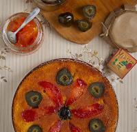 Κέικ βανίλιας με γλυκό κουταλιού «Άγριο Σύκο και Άγριο Κυδώνι Γράμμου»